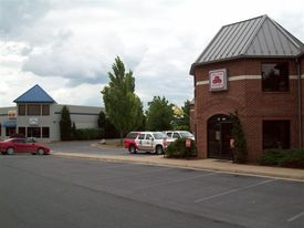 Front of parking to east