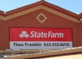 State farm wall sign
