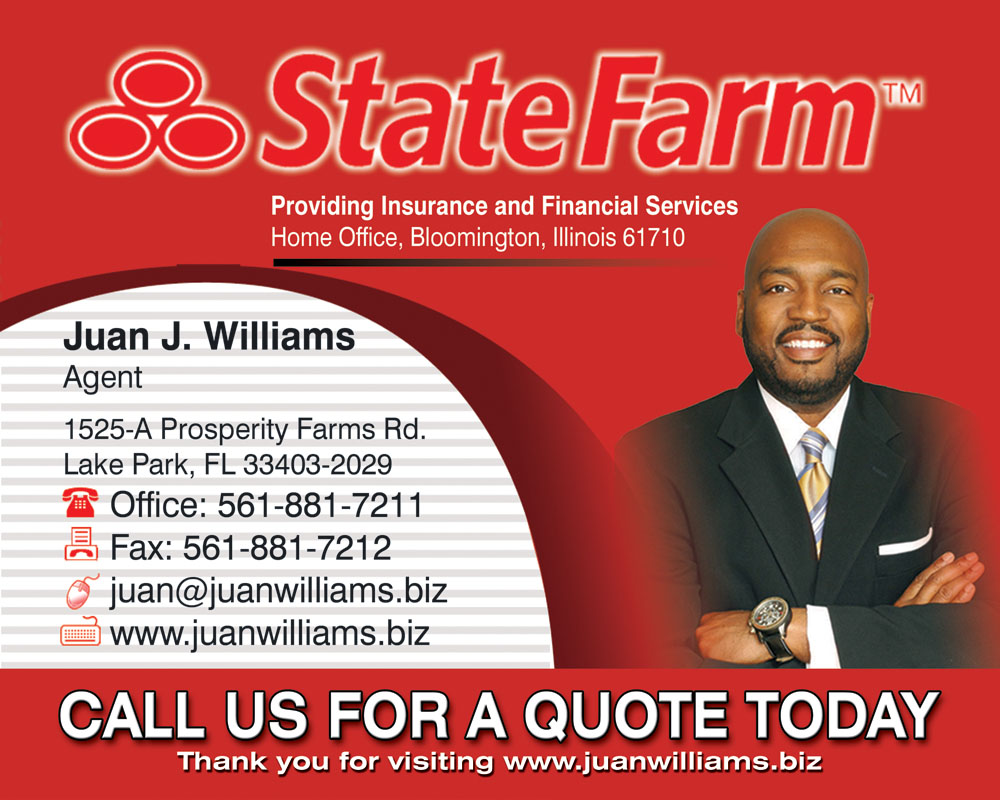 State Farm Life Insurance Quote Juan Williams  State Farm Agent