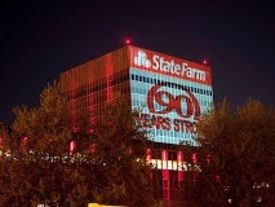 State farm night building