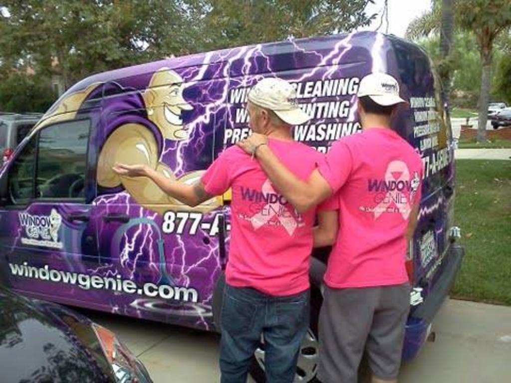 Pink shirts on technicians