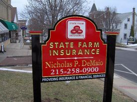 Nick demaio state farm office sign
