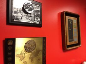 Plaques in office