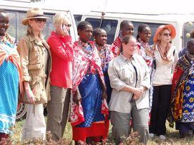 2012 8 masai women greet us