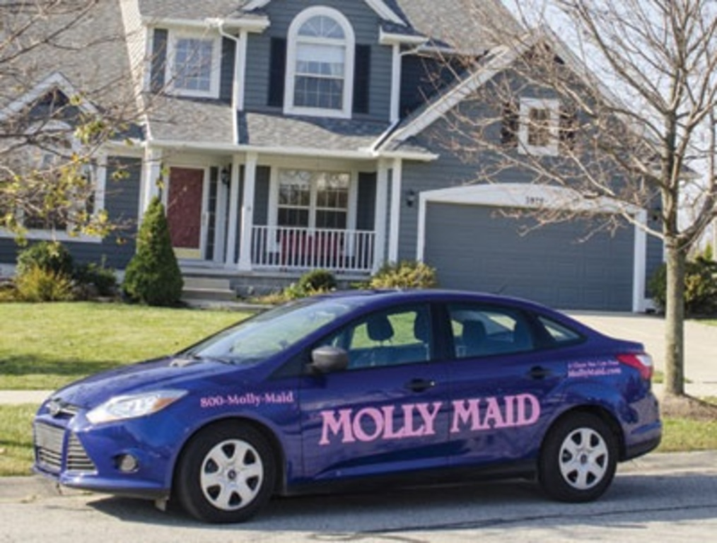 Molly maid cleaning car  crop