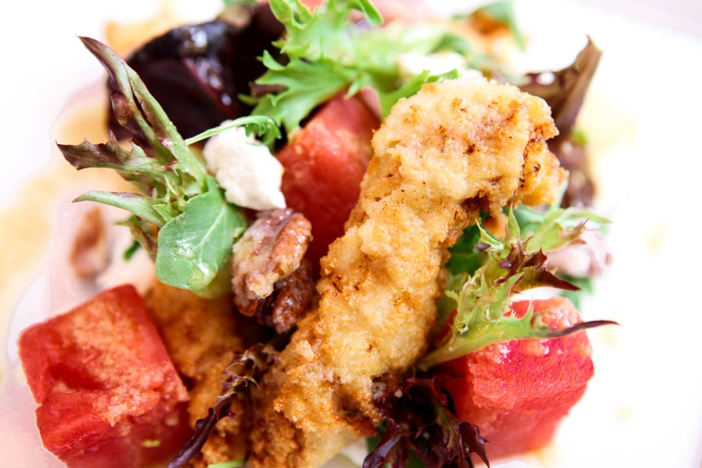 Snob ckbk fried chix watermelon salad1800x1200