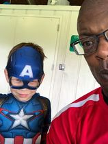 Kenny and captain america