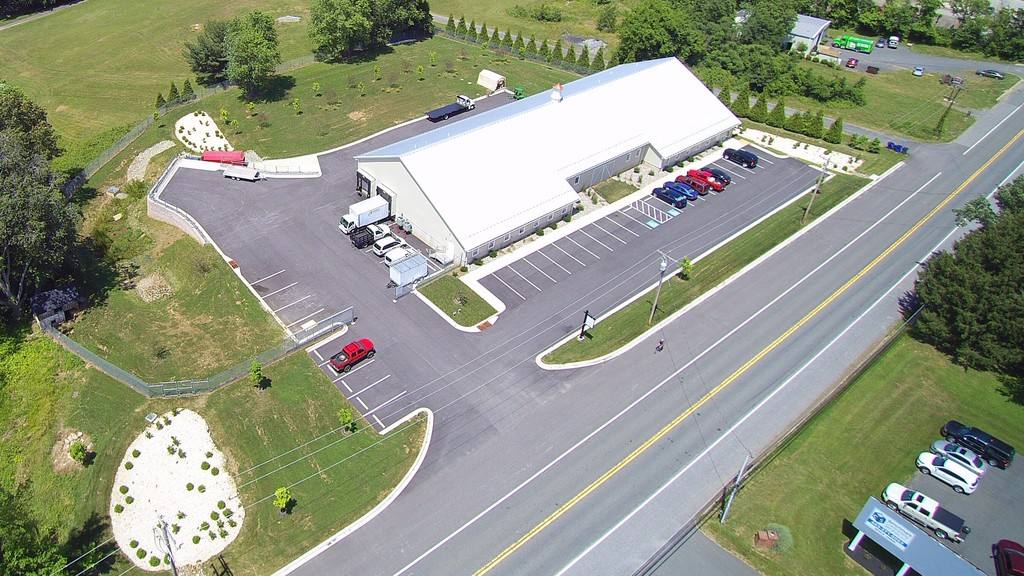 Drone shot of facilty choice