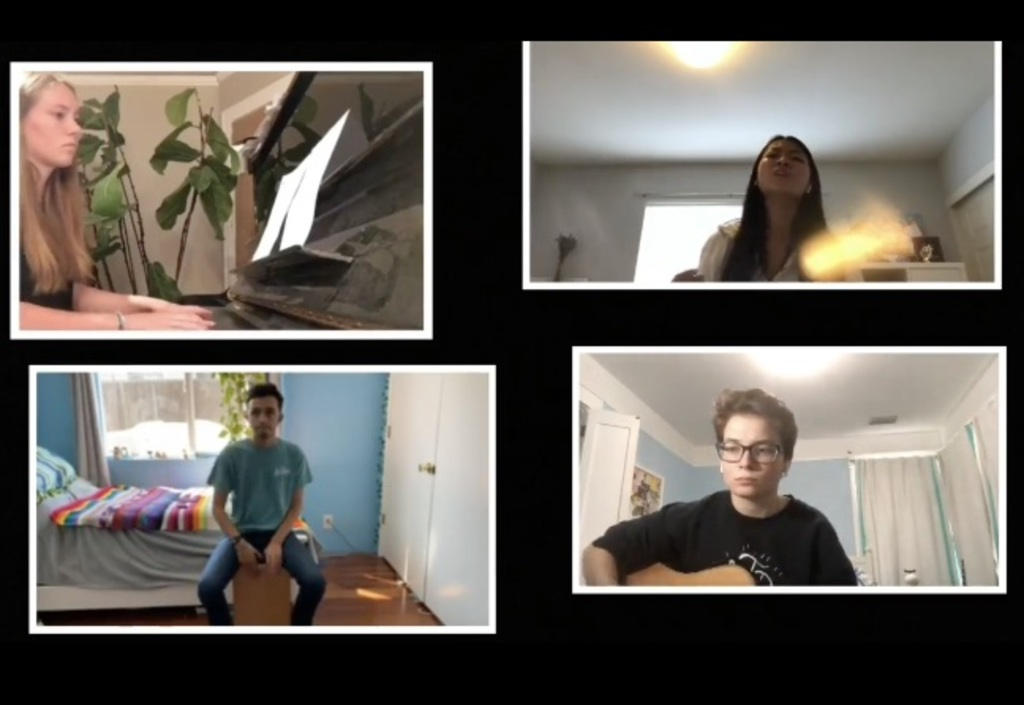 Student Worship Singing on Zoom