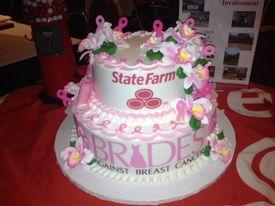 Wedding cake brides against breat cancer 3 13