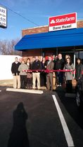 Dane huxel state farm insurance ribbon cutting