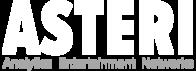 Asteri logo 2019 wordmark slogan underneath small white